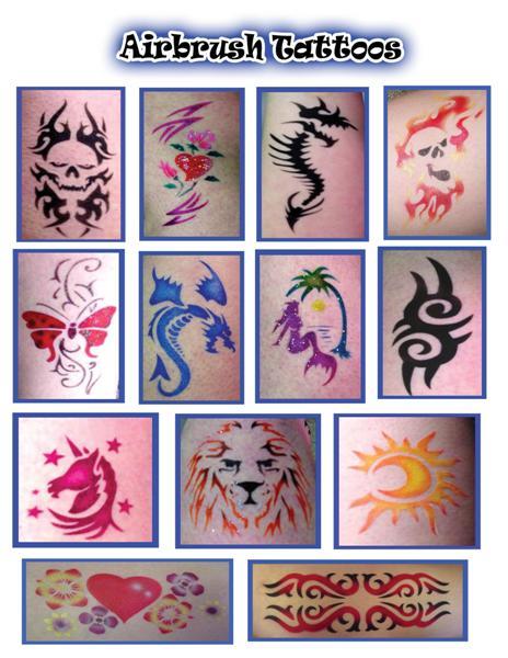 Raleigh nc airbrush tattoo and temporary tattoos magic for Airbrush tattoo paint